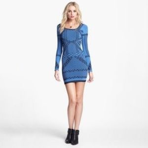 Free People Bodycon Deco Dress M/L Now You See Me